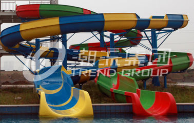 Customized Spiral Fiberglass Water Slide Games For Resorts Or Hotel